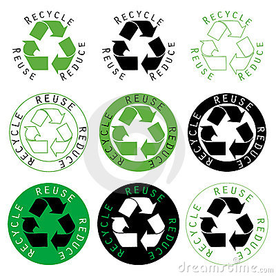 Free Recycle Reuse Reduce Royalty Free Stock Photography - 2179697