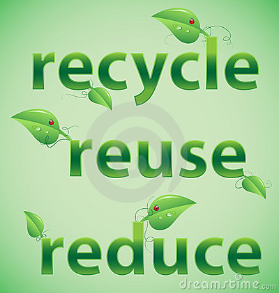 Recycle, Reuse, Reduce Leafy Words
