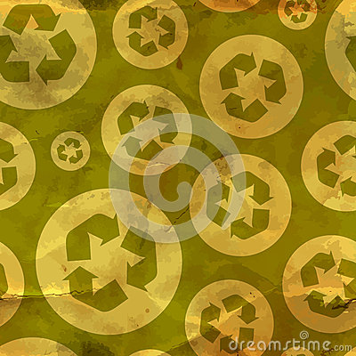 Recycle. Seamless pattern.