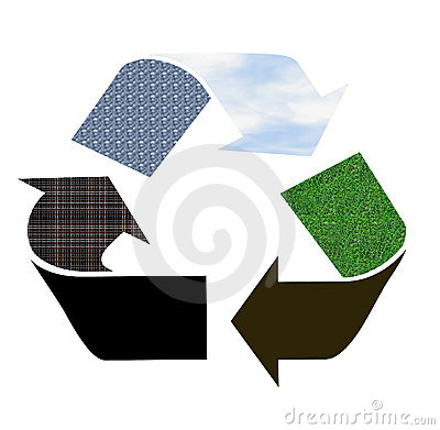 Recycle sign as pictogram