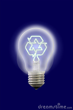 Recycle sign glow