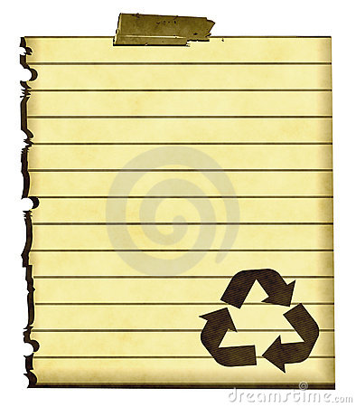 Recycle Sign On Paper