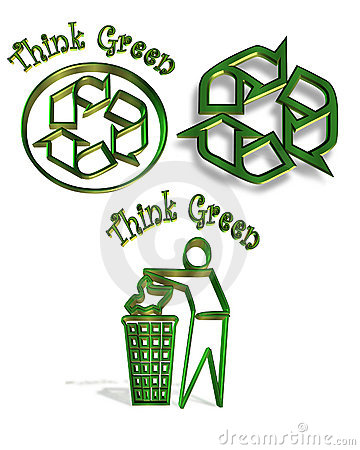 Recycle symbol 3 icons