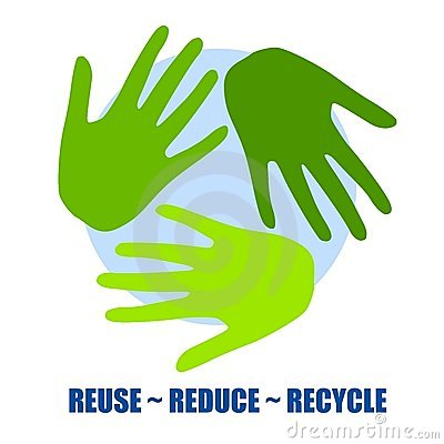 Recycle Symbol As Green Hands