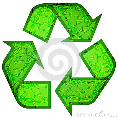 Recycle symbol made of animals