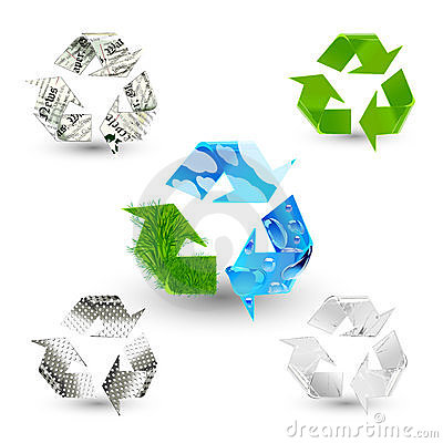 Free Recycle Symbols Royalty Free Stock Images - 14771819