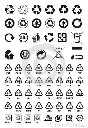 Free Recycle Symbols Stock Images - 34817544