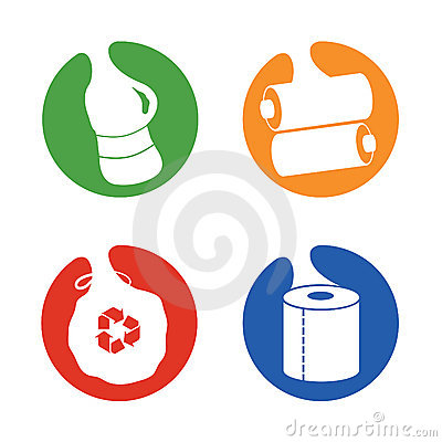 Recycle symbols different items