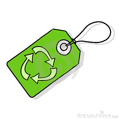 Recycle tag illustration