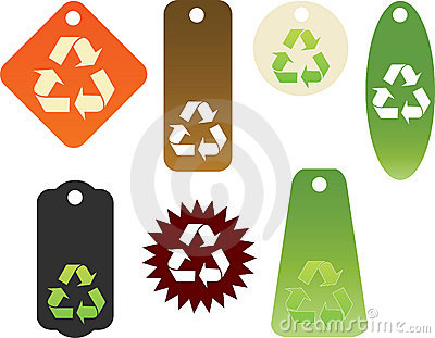 Recycle themed tags