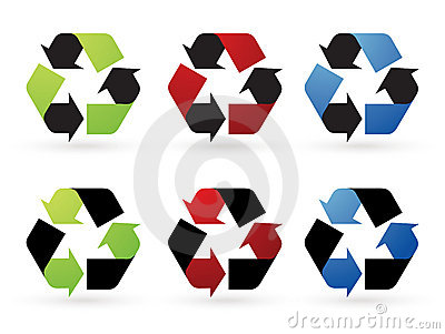 Recycle vector icons