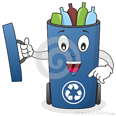 Recycle Waste Bin Character