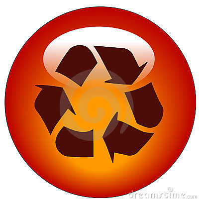 Recycle web button or icon