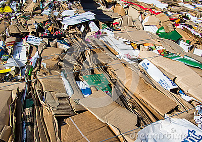 Recycled cardboard boxes Editorial Stock Image