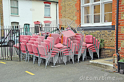 Recycled charity chairs