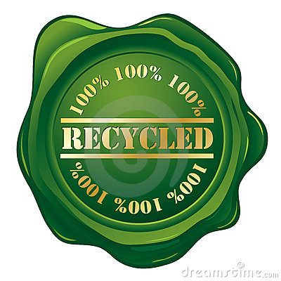 Recycled green stamp