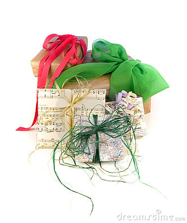 Recycled paper gift wraps