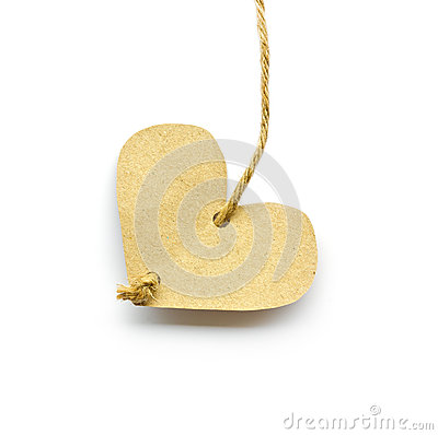 Recycled paper heart.