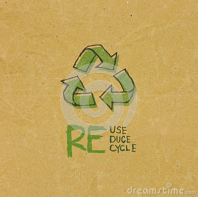 Free Recycled Paper With Eco Sign Royalty Free Stock Photography - 35345287