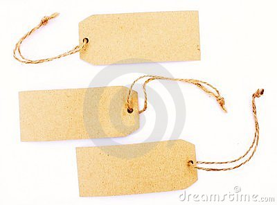 Recycled retro paper blank tags