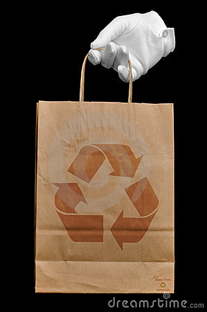 Recycled shopping bag