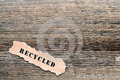 Recycled Title on Old Barnwood Lumber Background