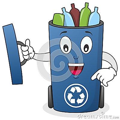 Recycleer het Karakter van de Bak van het Afval