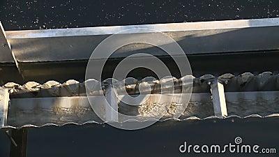 Recyclerend drinkbaar water Filtratiesedimentatie van de behandeling van het rioleringswater stock videobeelden