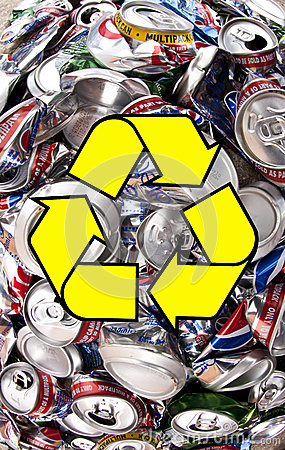 Recycling - Aluminum Drinks Cans Editorial Stock Image