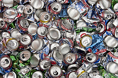 Recycling - Aluminum Drinks Cans Editorial Stock Photo