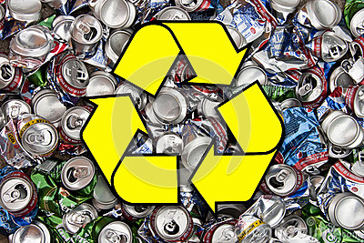 Recycling Aluminum Drinks Cans Editorial Stock Photo