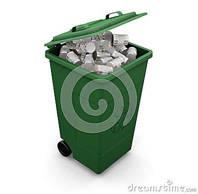 Free Recycling Bin Royalty Free Stock Photos - 1096488