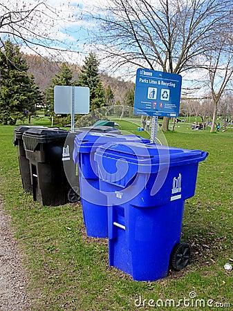 Recycling Bins Editorial Photo