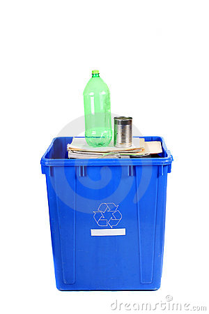 Recycling blue bin