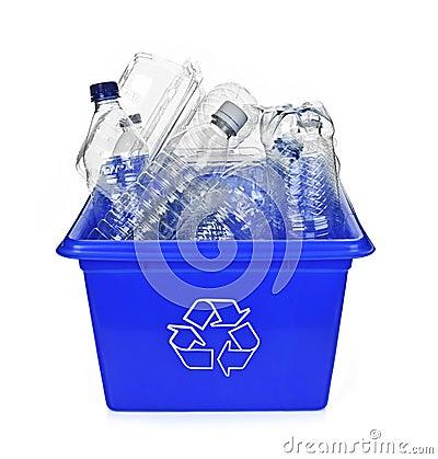 Recycling blue box