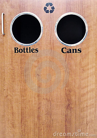 Recycling bottles and cans
