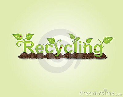 Recycling caption