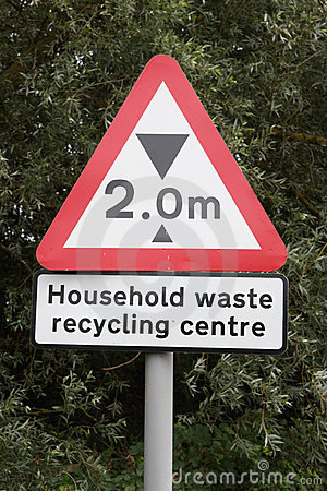 Recycling Centre Sign with Height Restriction