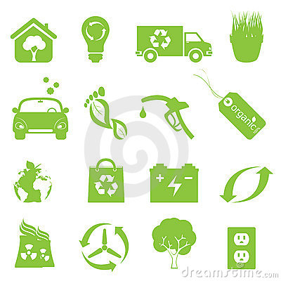 Recycling And Clean Environment Icon Set Royalty Free Stock Images - Image: 21630499