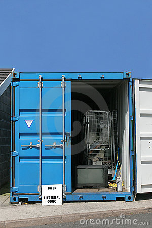 Recycling Container for Electrical Goods