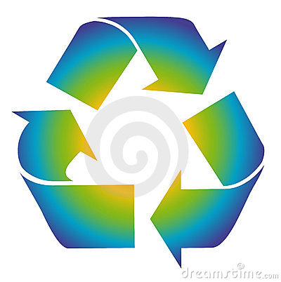 Recycling is fun symbol. Colorful recycle.