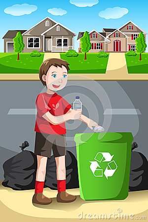 Free Recycling Kid Royalty Free Stock Photos - 28704228