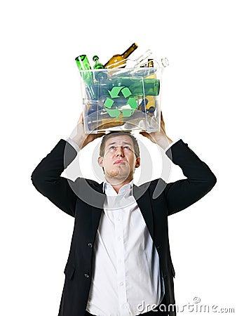 Recycling man