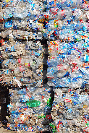 Recycling Plastic and bottles Editorial Image