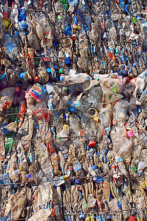 Recycling Plastic and bottles Editorial Stock Photo