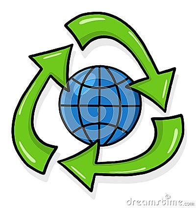 Recycling symbol illustration