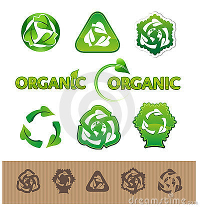 Recycling symbols and labels