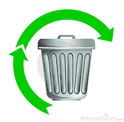 Recycling trash and rubbish