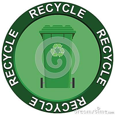 Recycling Wheelie Bin