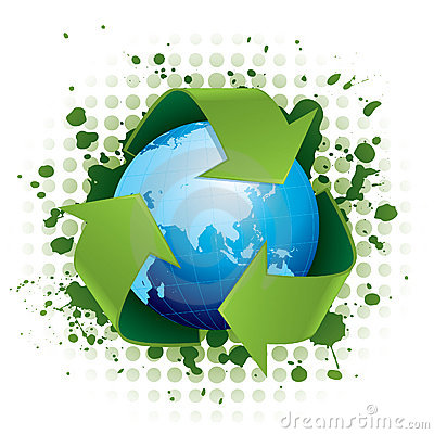 Free Recycling World Concept Royalty Free Stock Photos - 8422608